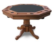 Antique Dark Oak Poker Table  - Item NG2351T