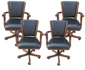 Walnut Poker Chairs - Set of 4 - Item NG2366CH