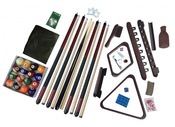 Deluxe Billiards Accessory Play Kit with Mahogany Finish - Item NG2540M