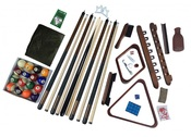 Deluxe Billiards Accessory Play Kit with Walnut Finish - Item NG2540W