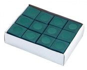 Green Billiard Pool Cue Chalk - 12 Pack - Item NG2544