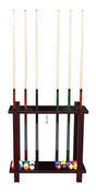 Mahogony Floor Cue Rack - Item NG2567M