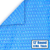 12 Round 8 mil Solar Cover for Above Ground Pools - Item NS100