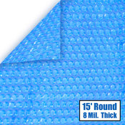 15 Round 8 mil Solar Cover for Above Ground Pools - Item NS105