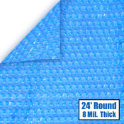 24 Round 8 mil Solar Cover for Above Ground Pools - Item NS120