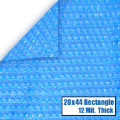 20 x 44 Rectangle 12 mil Solar Cover for InGround Pools - Item NS445