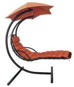 Hanging Lounge with Shade Sunbrella Canopy - Terra Cotta - Item NU3220
