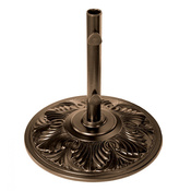 Bronze Art Deco Aluminum Umbrella Base - 50 lbs. - Item NU5407