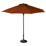 Cabo Auto-Open 9 ft. Olefin Market Umbrella - Terra Cotta - Item NU5419TC