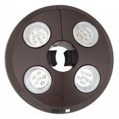 Rechargable 4-Light Bronze Umbrella Light - Item NU5505