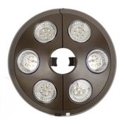 Rechargable 6-Light Bronze Umbrella Light - Item NU5515