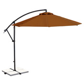 Santiago 10 ft. Octagon Cantilever Olefin Umbrella - Terra Cotta - Item NU6400TC