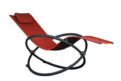 Vivere Orbital Single Lounger - Cherry Red - Item ORBL1-CR