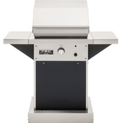 "TEC Patio FR 26"" Infrared Propane Gas Grill with Black Pedestal & Side Shelves - Item PFR1LPPEDB-2PFRSS"