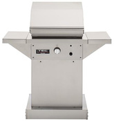 "TEC Patio FR 26"" Infrared Propane Gas Grill with Stainless Steel Pedestal & Side ... - Item PFR1LPPEDS"