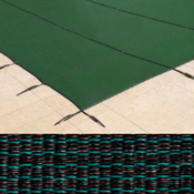 16 x 36 Rectangle with 4 x 8 Right Side Steps Royal Mesh Green Safety Pool Cover ... - Item PT-IG-000306