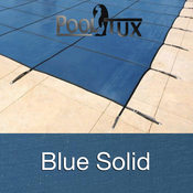 30 x 60 Rectangle King Light Weight Solid Blue Safety Pool Cover with AquaDuc ... - Item PT-IG-100414
