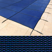 18 x 36 Rectangle with 4 x 8 Right Side Steps King Mesh Blue Safety Pool Cover ... - Item PT-IG-100644