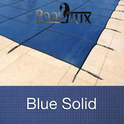 25 x 45 Rectangle Emperor Solid Blue Safety Pool Cover 20 Year - Item PT-IG-200413