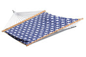 Vivere Quilted Fabric Double Hammock - Nautical - Item QFAB30