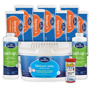 BioGuard Kit - 18 lb SilkGuard Sticks - 24 lbs Burnout 3 - 2 Back-Up 2 Algaecide ... - Item SILK1