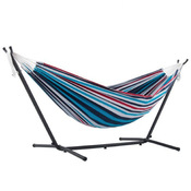Vivere Brazilian Style Double Hammock with 9 ft. Stand - Denim - Item UHSDO9-12