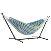 Vivere Brazilian Style Double Hammock with 9 ft. Stand - Oasis - Item UHSDO9-24