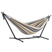 Vivere Brazilian Style Double Hammock with 9 ft. Stand - Desert Moon - Item UHSDO9-25
