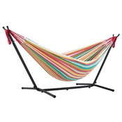 Vivere Brazilian Style Double Hammock with 9 ft. Stand - Salsa - Item UHSDO9-26