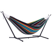 Vivere Brazilian Style Double Hammock with 9 ft. Stand - Rio Night - Item UHSDO9-27