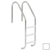 "S.R. Smith 24"" Economy 3-Step Vinyl Ladder - White w/ Escutcheons - Item VLLS-103E-PW"
