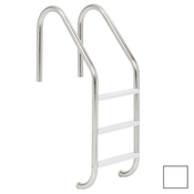 "S.R. Smith 24"" Elite 3-Step Vinyl Ladder - Pearl White w/ Escutcheons - Item VLLS-103S-PW"