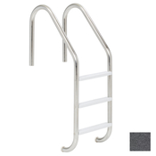 "S.R. Smith 24"" Elite 3-Step Vinyl Ladder - Rock Gray w/ Escutcheons - Item VLLS-103S-RG"