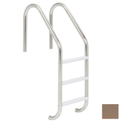 "S.R. Smith 24"" Elite 3-Step Vinyl Ladder - Taupe w/ Escutcheons - Item VLLS-103S-TP"