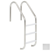 "S.R. Smith 24"" Elite 3-Step Vinyl Ladder - Polished Steel w/ Escutcheons - Item VLLS-103S"