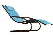 Vivere Wave Lounger - Sky Blue - Item WAVEL1-SB