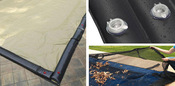 18 x 36 Inground Winter Pool Cover plus 14 Water Tubes and Leaf Guard 20 Year ... - Item WC-IG-101005-WT-LG