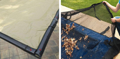 24 x 40 Inground Winter Pool Cover plus Leaf Guard 20 Year Black/Tan Rectangle - Item WC-IG-101008-LG