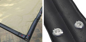 24 x 40 Inground Winter Pool Cover plus 18 Water Tubes 20 Year Black/Tan ... - Item WC-IG-101008-WT