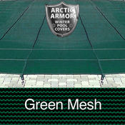 12 x 20 Rectangle Arctic Armor Standard Mesh Pool Cover in Green 12 Year - Item WS300G