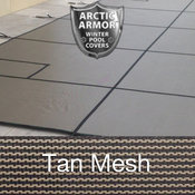 25 x 45 Rectangle Arctic Armor Standard Mesh Pool Cover in Tan 12 Year - Item WS425T