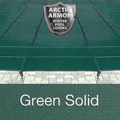 16 x 32 Rectangle Arctic Armor Ultra-Light Solid Pool Cover in Green 20 Year - Item WS2062G