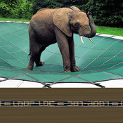 Pool Size: 18x36 Loop-Loc Tan Mesh Rectangle Safety Cover for Inground Pools - Item LLM1224