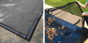 16 x 36 Inground Winter Pool Cover plus Leaf Net 15 Year Silver/Black Rectangle - Item GPC-70-7129-LG