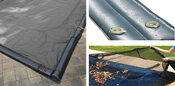 12 x 24 Inground Winter Pool Cover plus Water Tubes and Leaf Guard 15 Year ... - Item GPC-70-8251-WT-LG