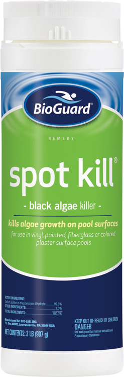 Bioguard spot kill black algae killer for swimming pools 2 lb item 23107 for Black spots in the swimming pool