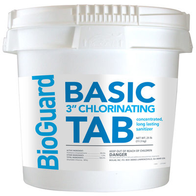 Bioguard Basic 3 Chlorinating Tablets For Swimming Pool 25 Lb Item 22512