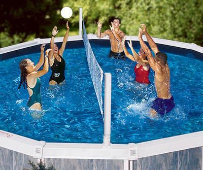 Swimline Pool Jam Combo Volleyball Basketball For Aboveground Pools Item 9191