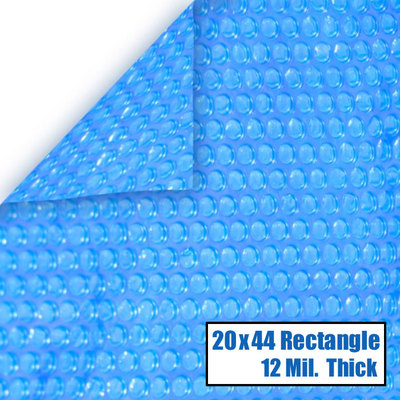 20 x 44 Rectangle 12 mil Solar Cover for InGround Pools