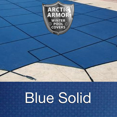 20 x 44 Rectangle Arctic Armor Ultra-Light Solid Pool Cover in Blue 20 Year